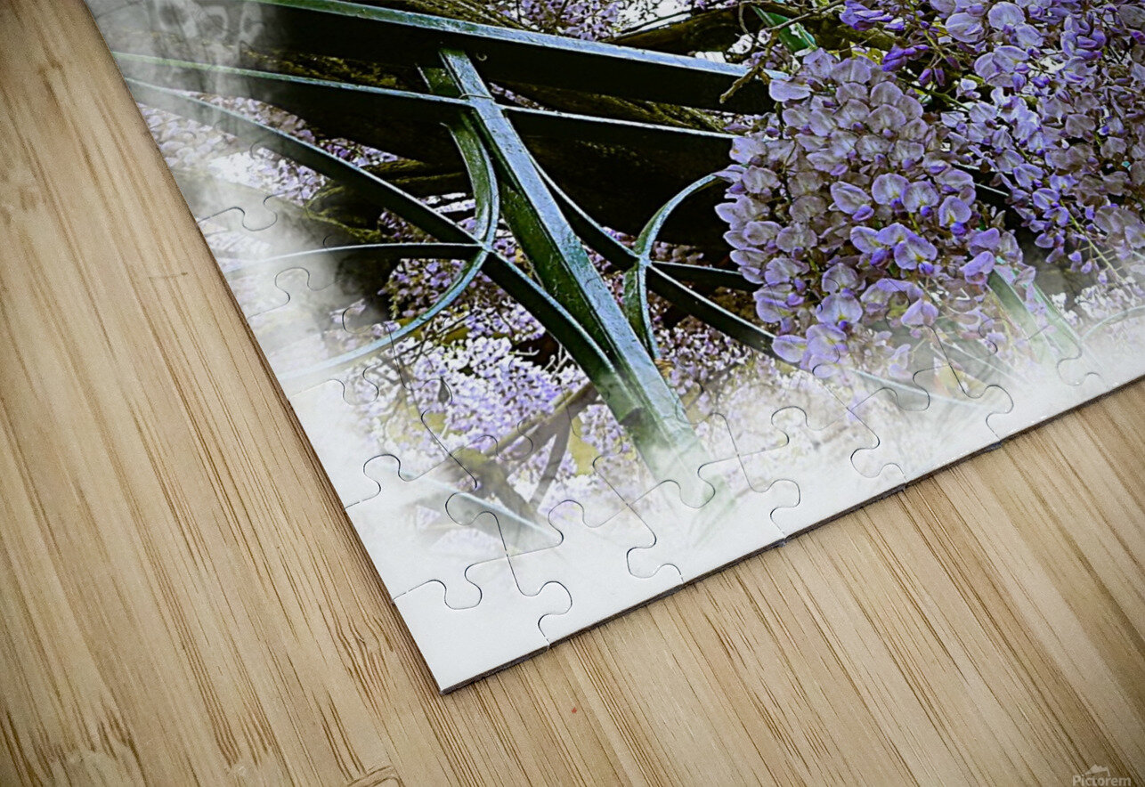 Wisteria Clouds HD Sublimation Metal print