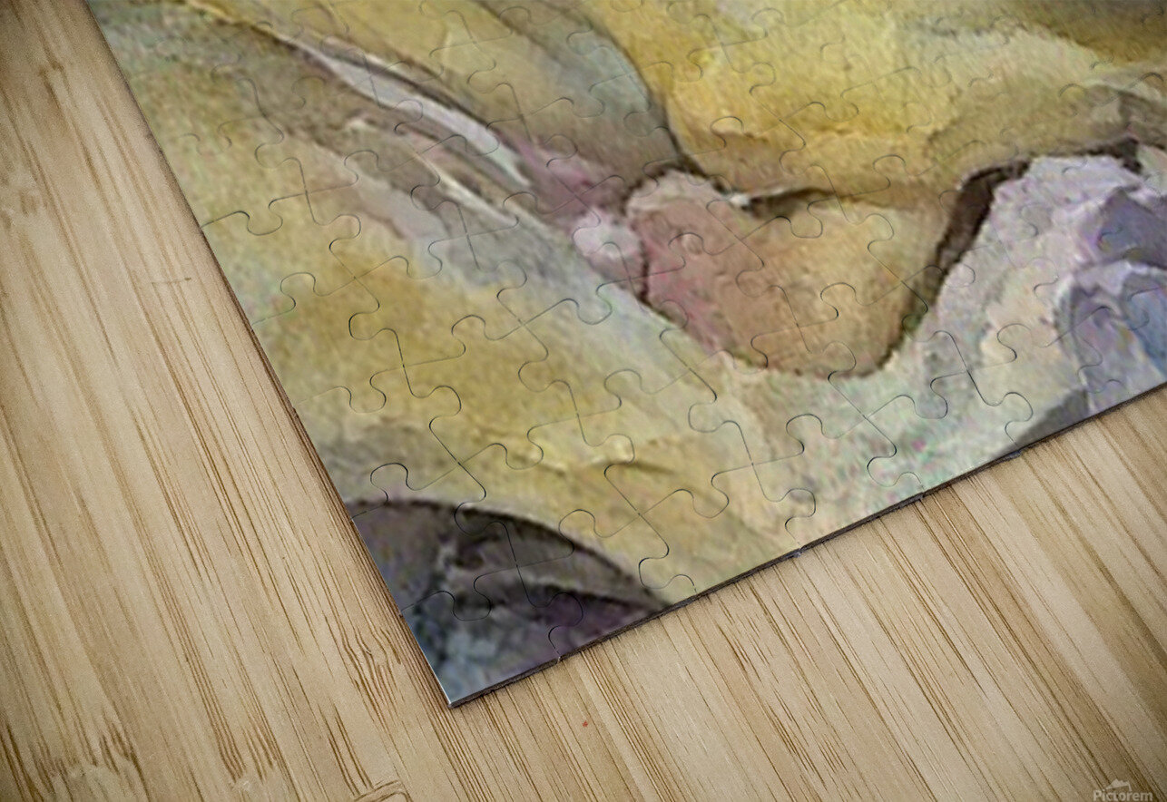 Watercolor dog painting HD Sublimation Metal print
