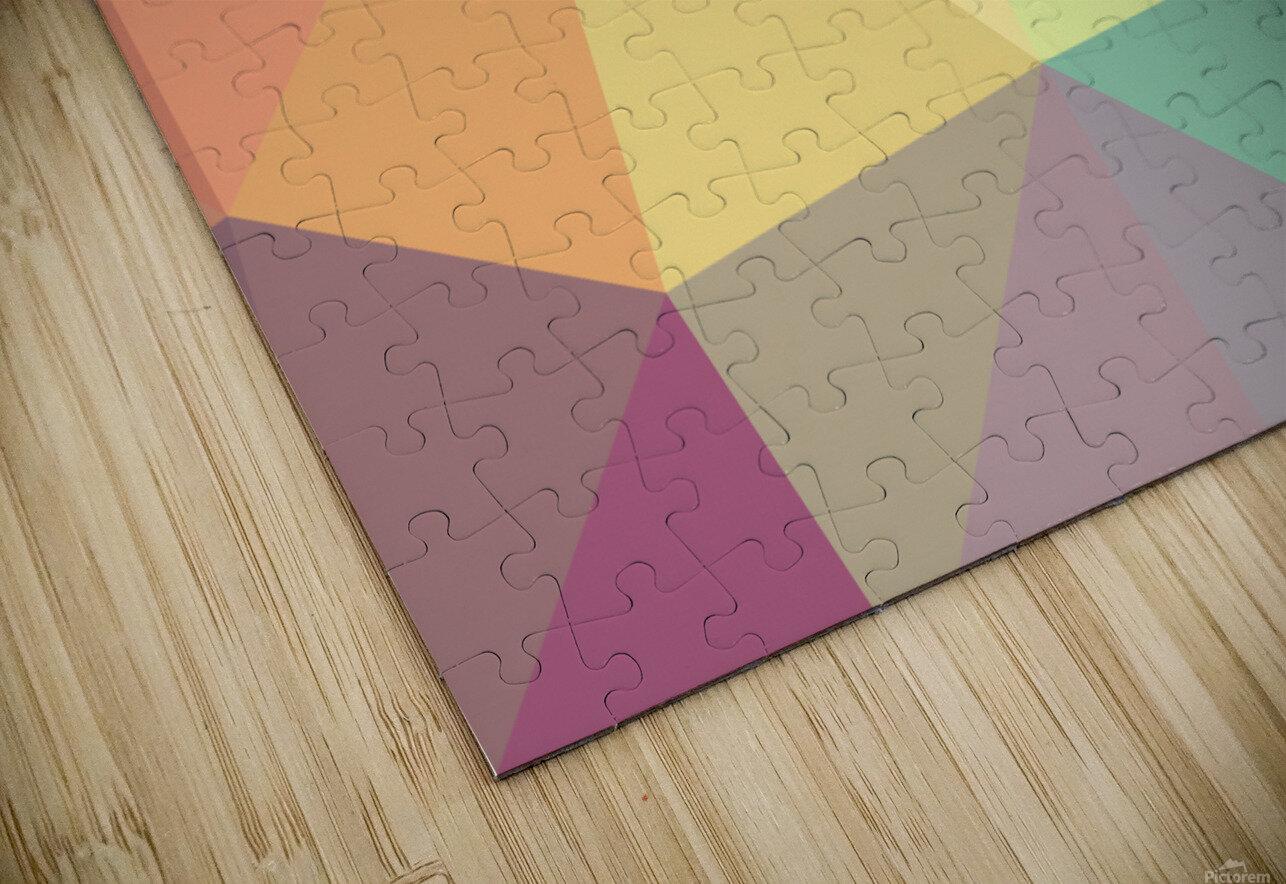 patterns polygon 3D (49) HD Sublimation Metal print