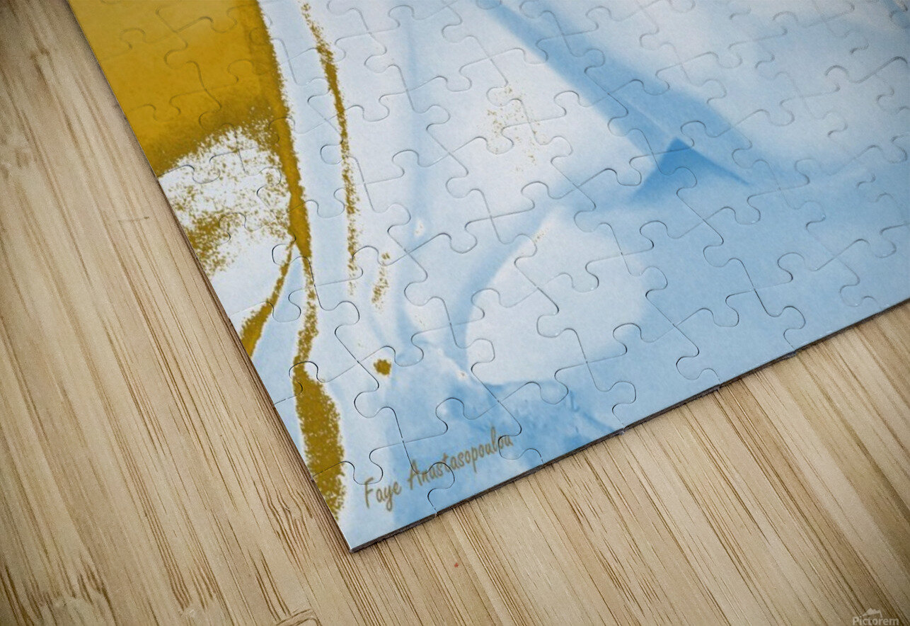 Ecstasy In Gold And Ice HD Sublimation Metal print