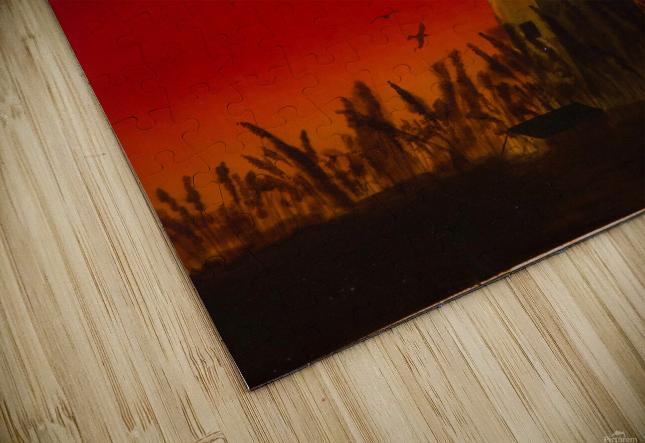 Light Too Bright HD Sublimation Metal print
