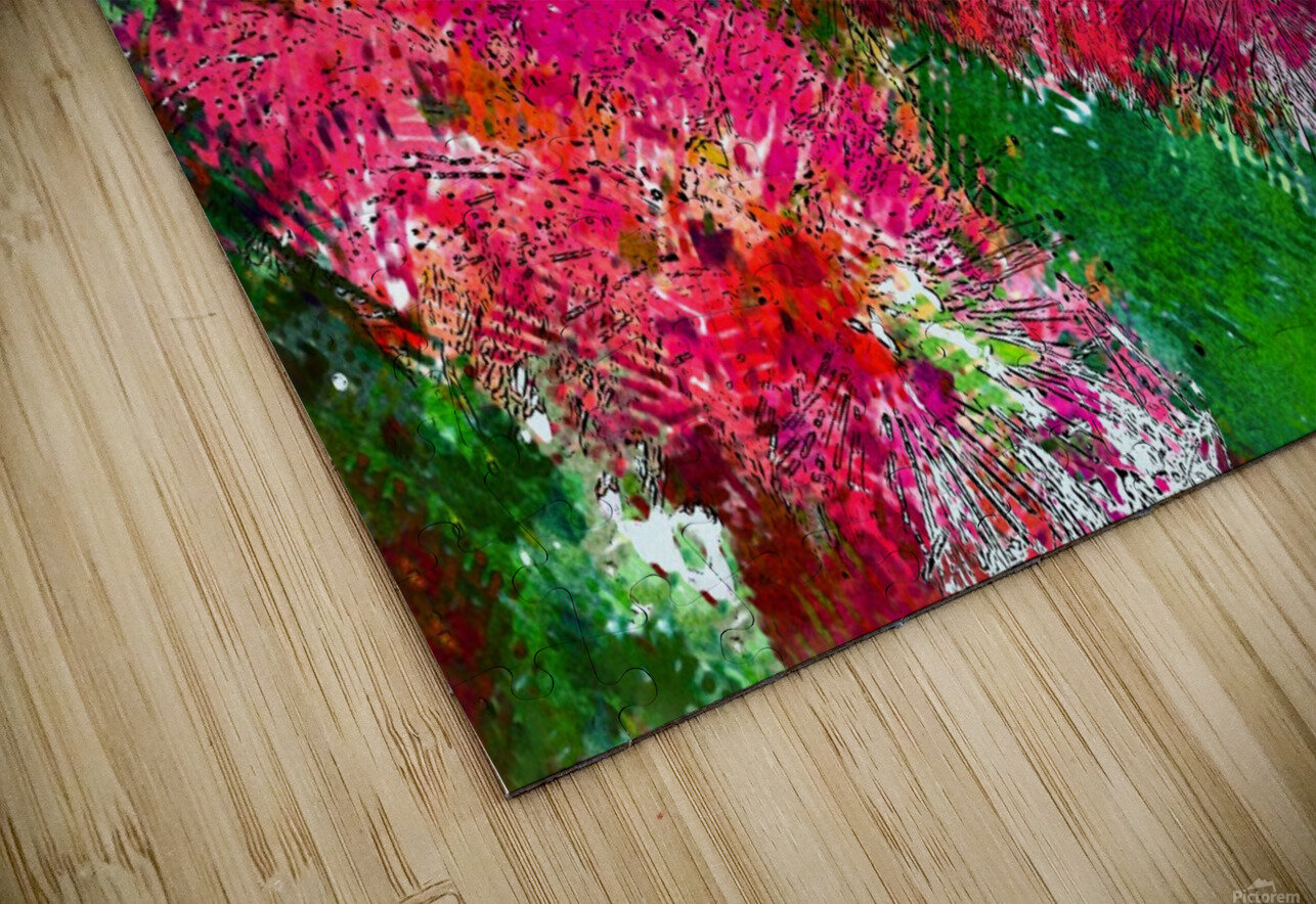 Bottle Brush Abstract 2 HD Sublimation Metal print