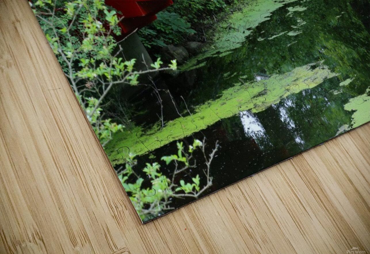 Dow Gardens Red Footbridge 062618 HD Sublimation Metal print