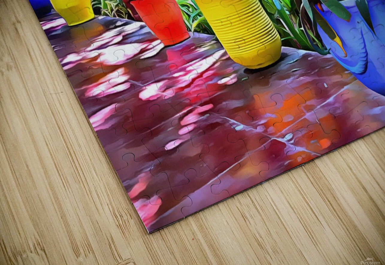 Colorful Plant Pots Marrakech 9 HD Sublimation Metal print