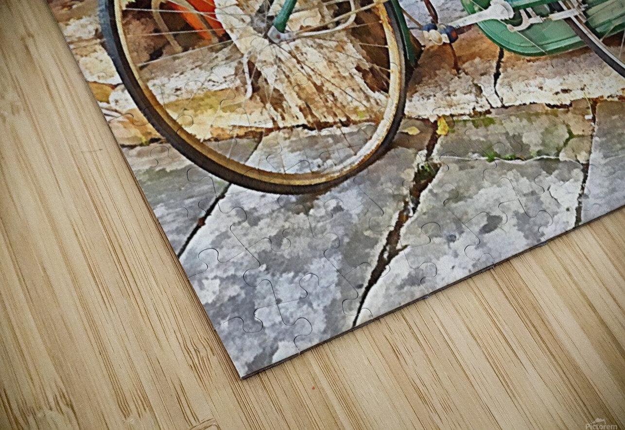 Decorative Bicycle In Cortona HD Sublimation Metal print