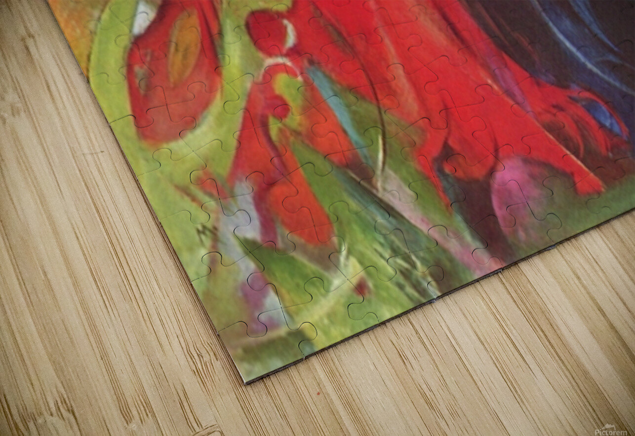 Fighting forms by Franz Marc HD Sublimation Metal print