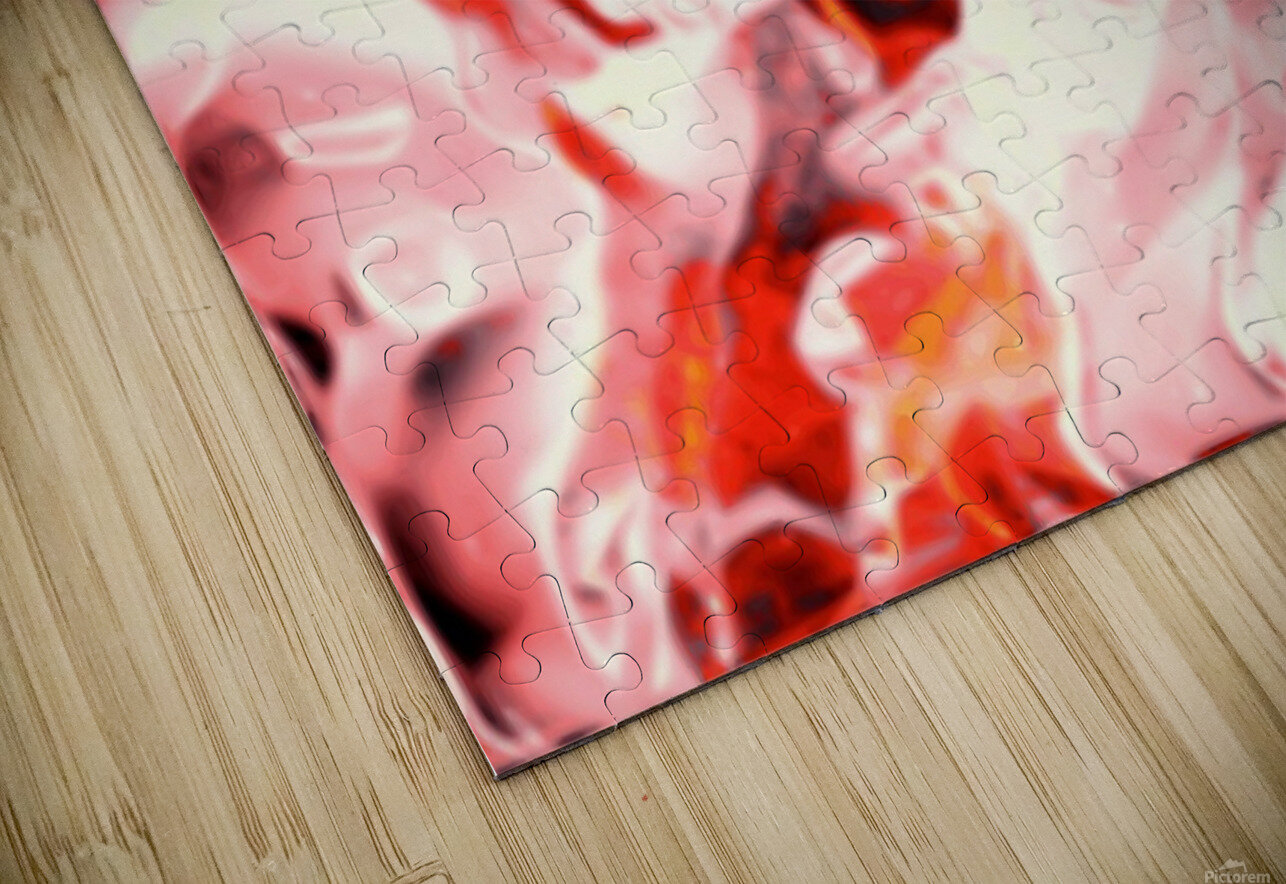 Super Charged - red orange pink abstract swirls wall art HD Sublimation Metal print
