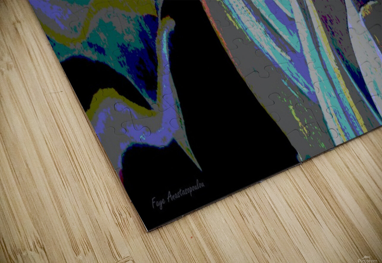 Colorful Melody Waves HD Sublimation Metal print