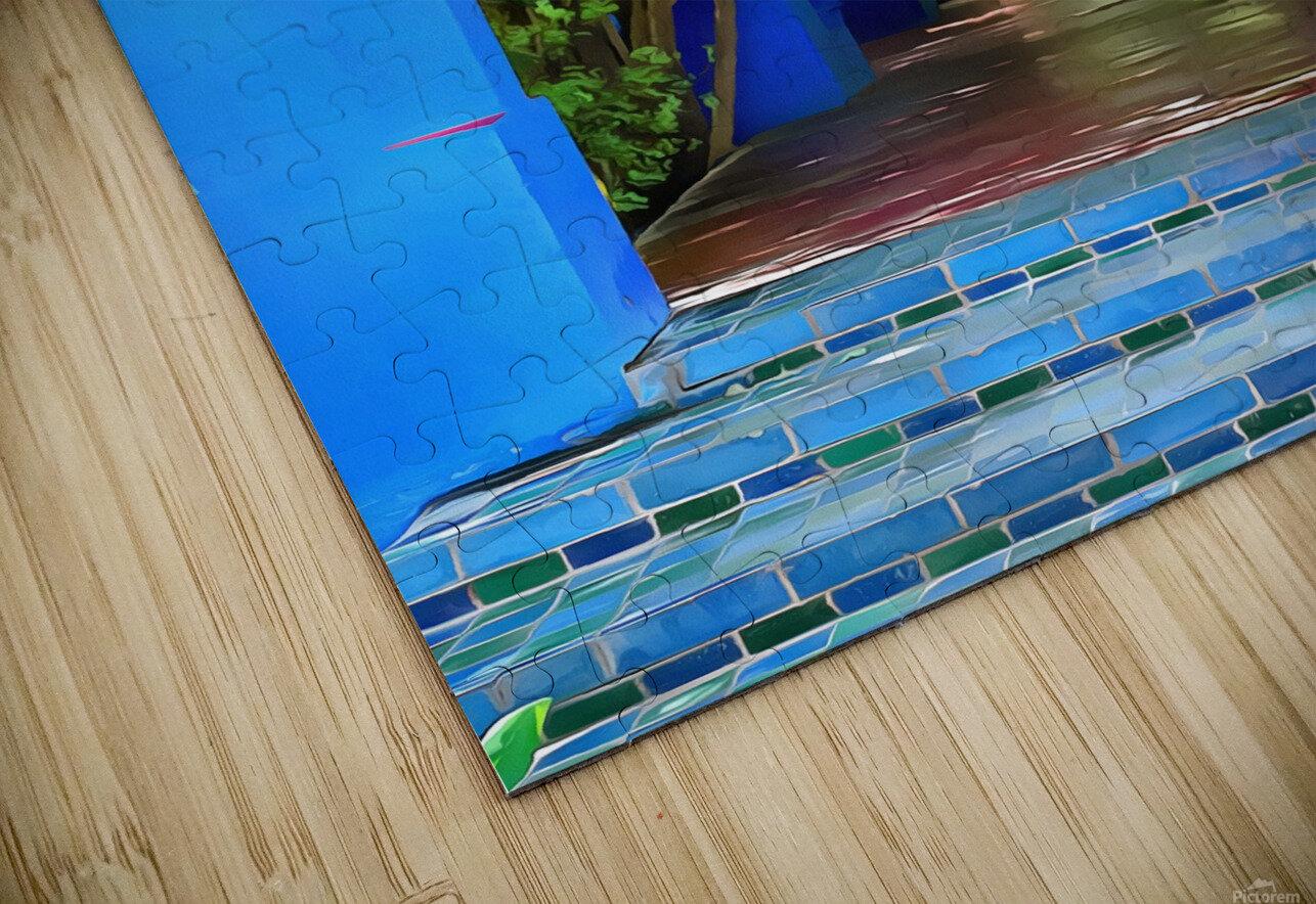 Shady Blue Walkway Marrakech HD Sublimation Metal print