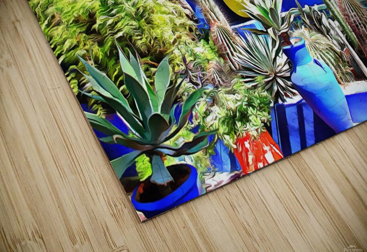 Cubist Villa Jardin Majorelle Marrakech HD Sublimation Metal print