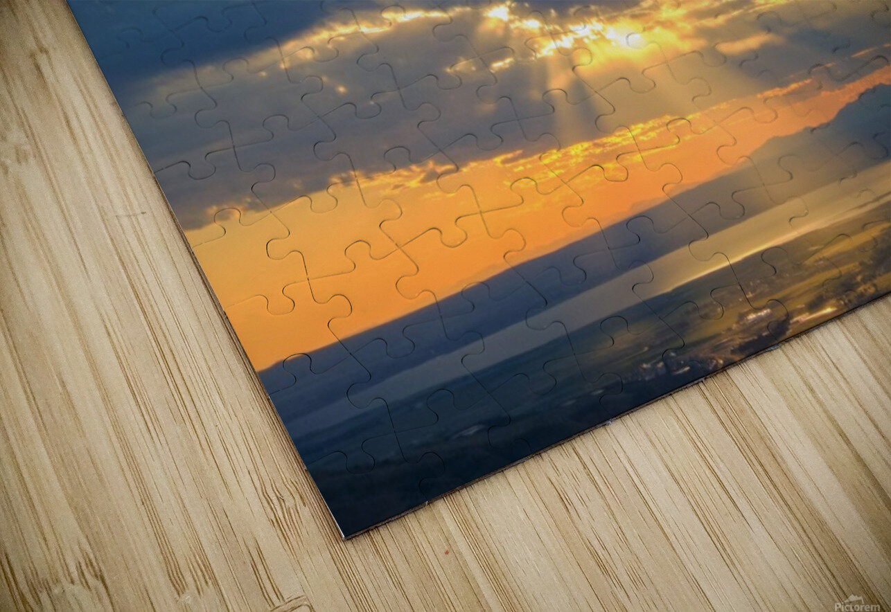 Portneuf Valley at Sunset HD Sublimation Metal print