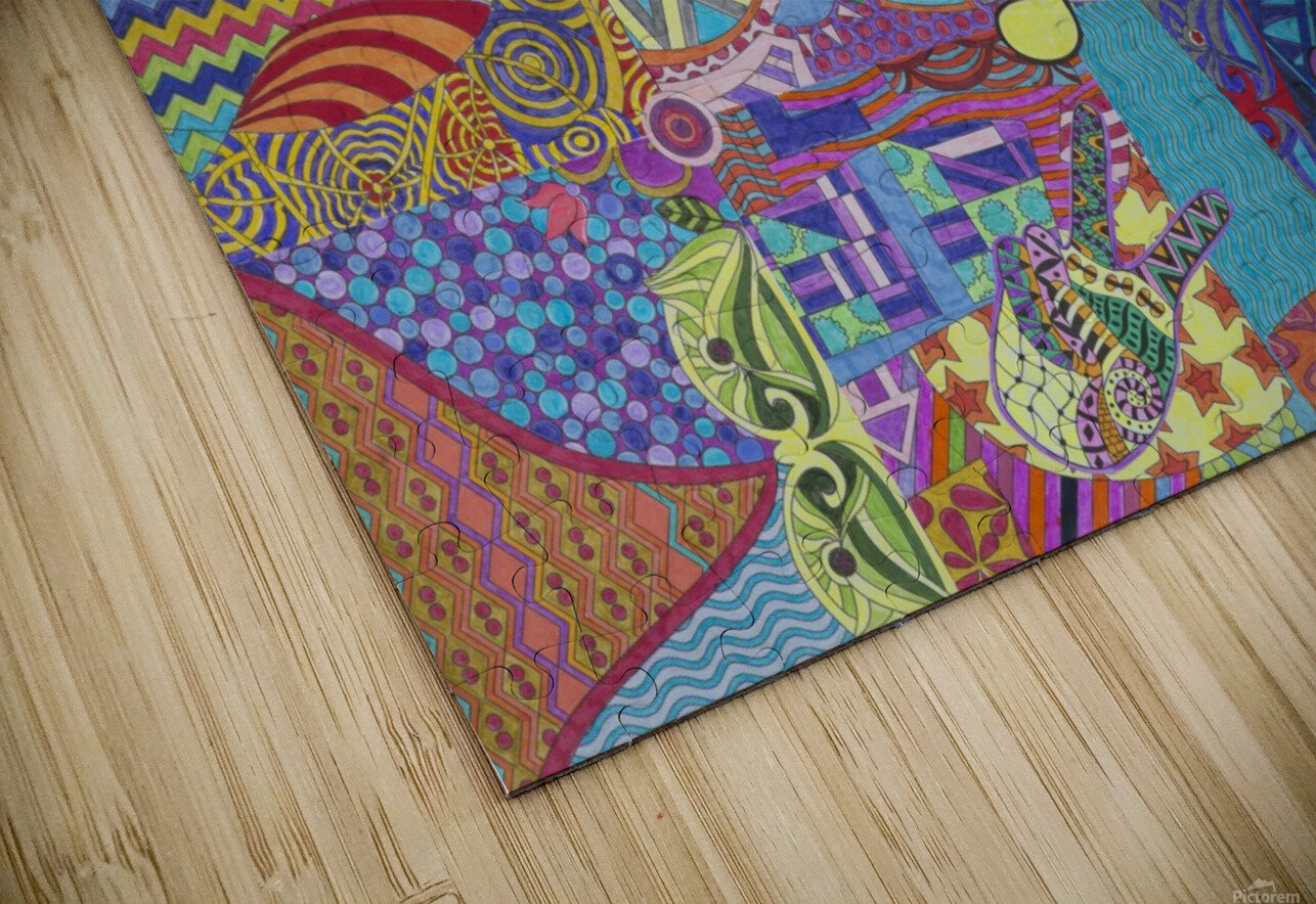 Jamming with Colour HD Sublimation Metal print