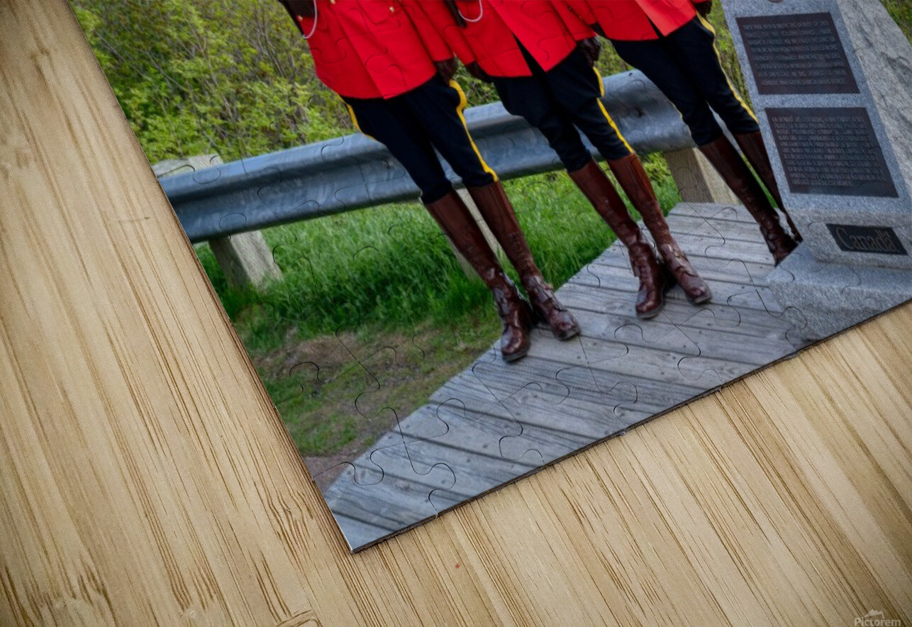 RCMP on French Mountain HD Sublimation Metal print