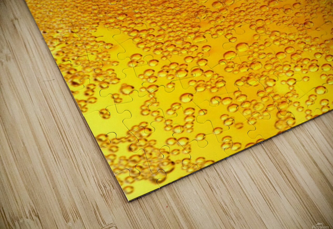 Beer Bubbles pattern HD Sublimation Metal print