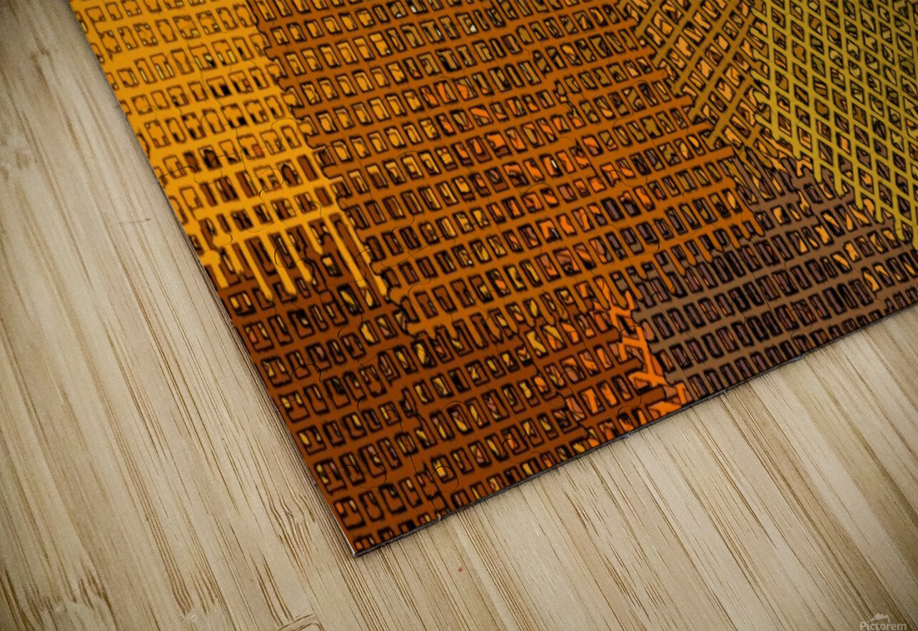 color colors abstract yellow brown HD Sublimation Metal print