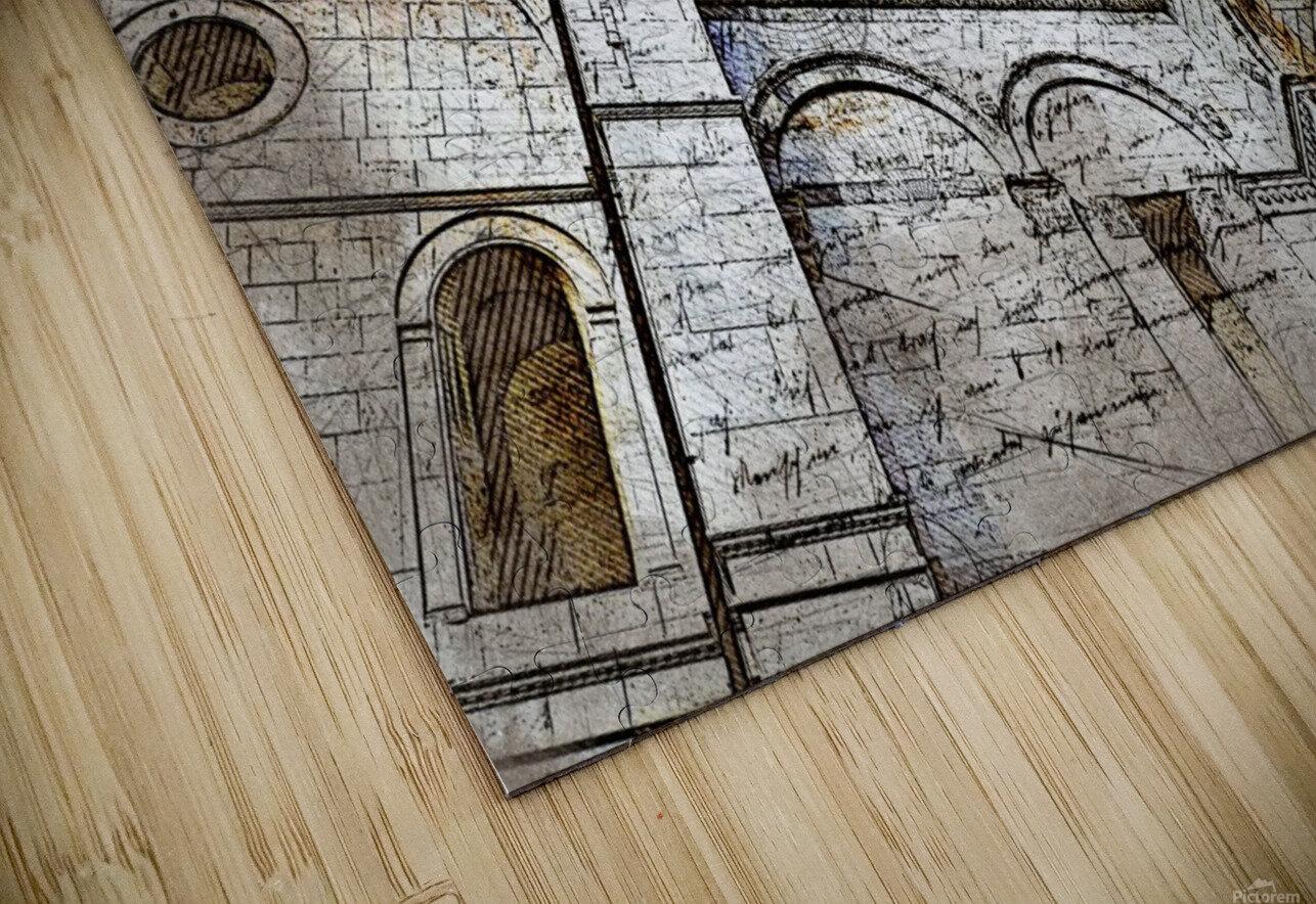 building architecture columns HD Sublimation Metal print