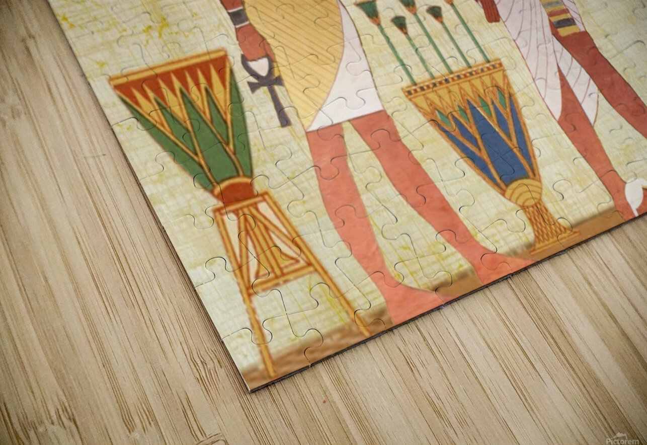 egyptian design man woman priest HD Sublimation Metal print