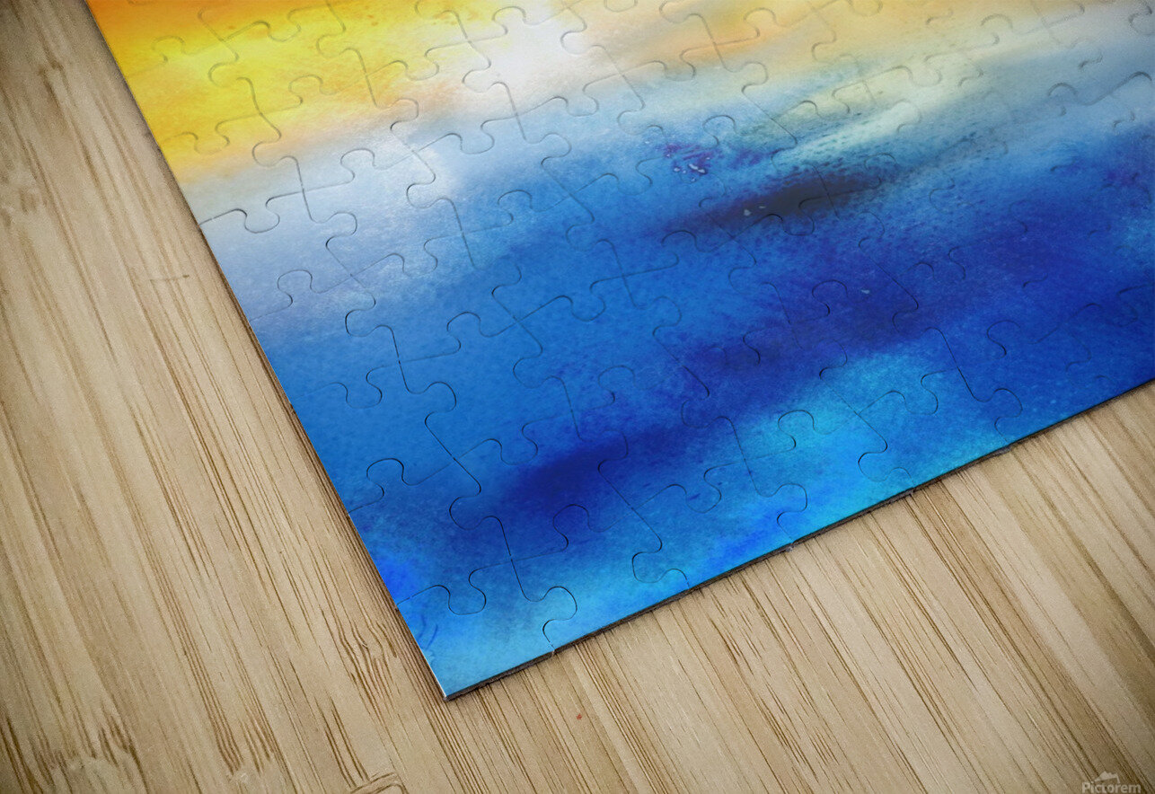 Abstract Warm Sunset I HD Sublimation Metal print