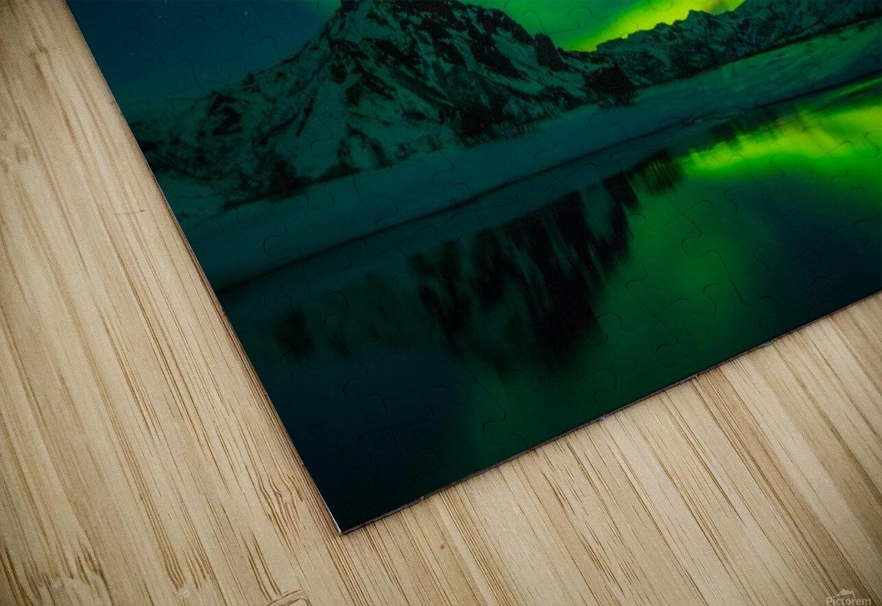 iceland aurora borealis HD Sublimation Metal print