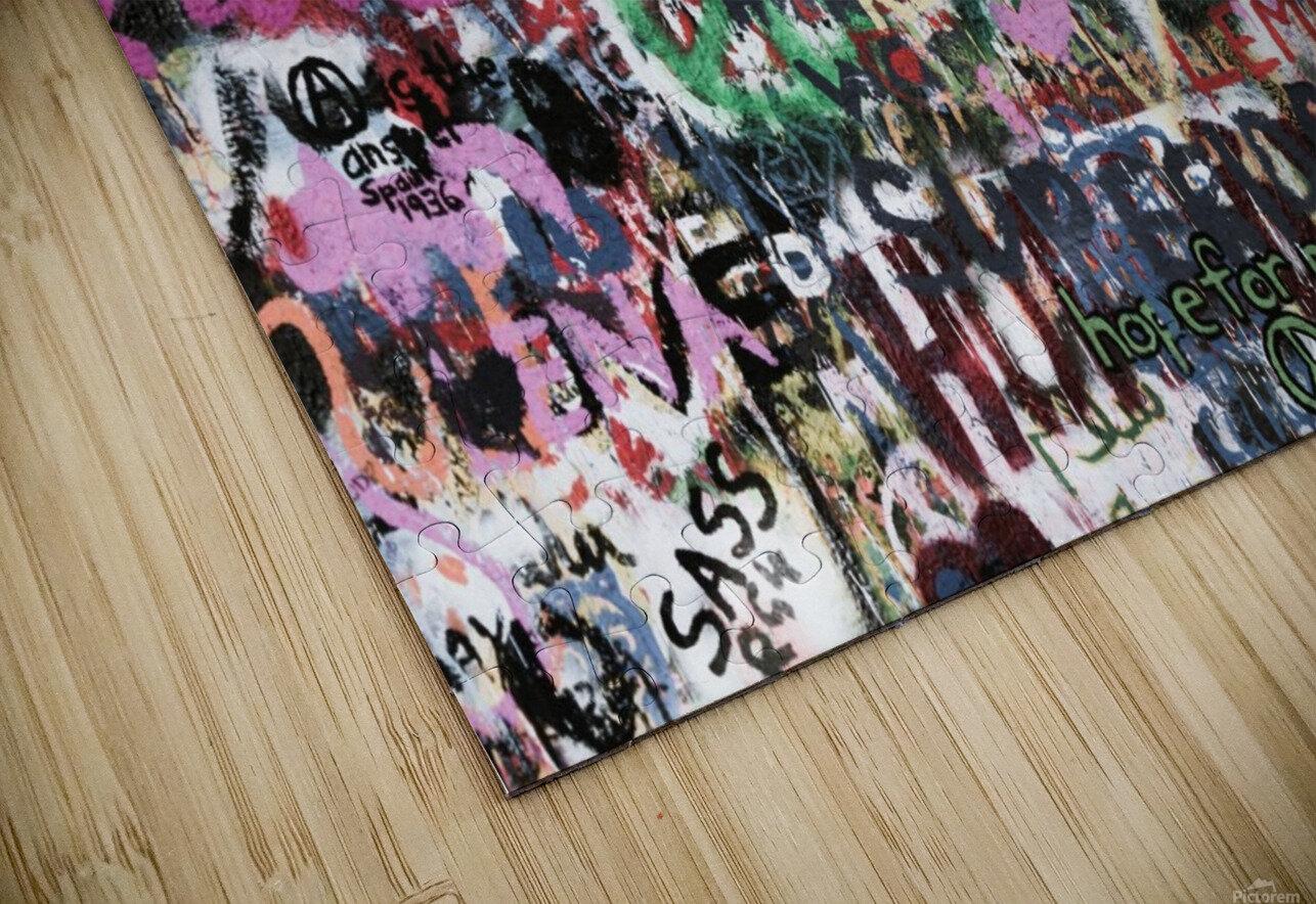 Graffiti Wall Background HD Sublimation Metal print