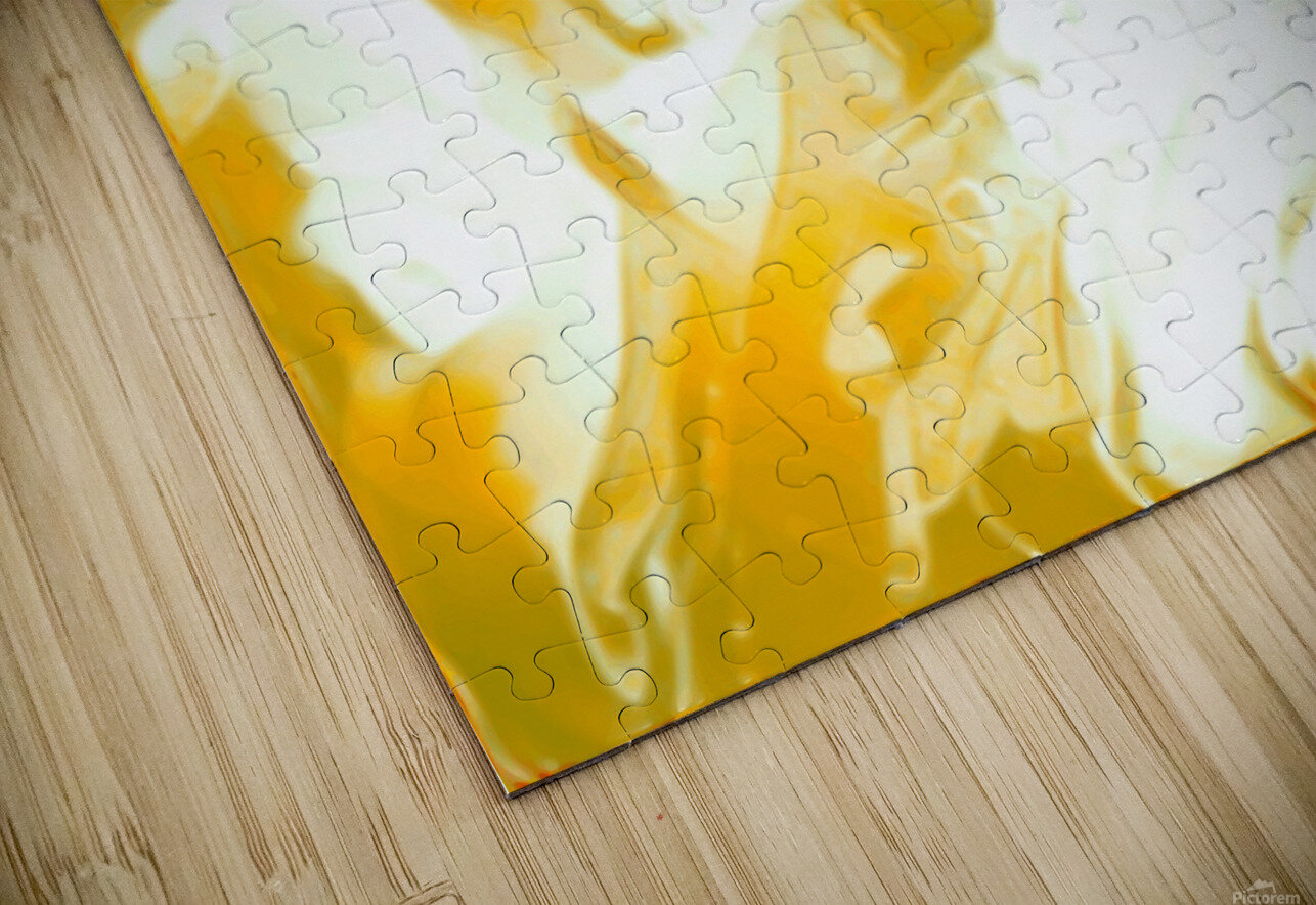 Abundant Aura - white gold swirls abstract wall art HD Sublimation Metal print