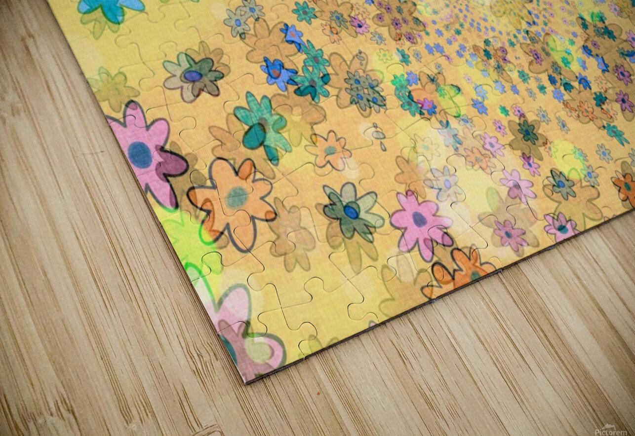 flowers color colorful watercolour HD Sublimation Metal print