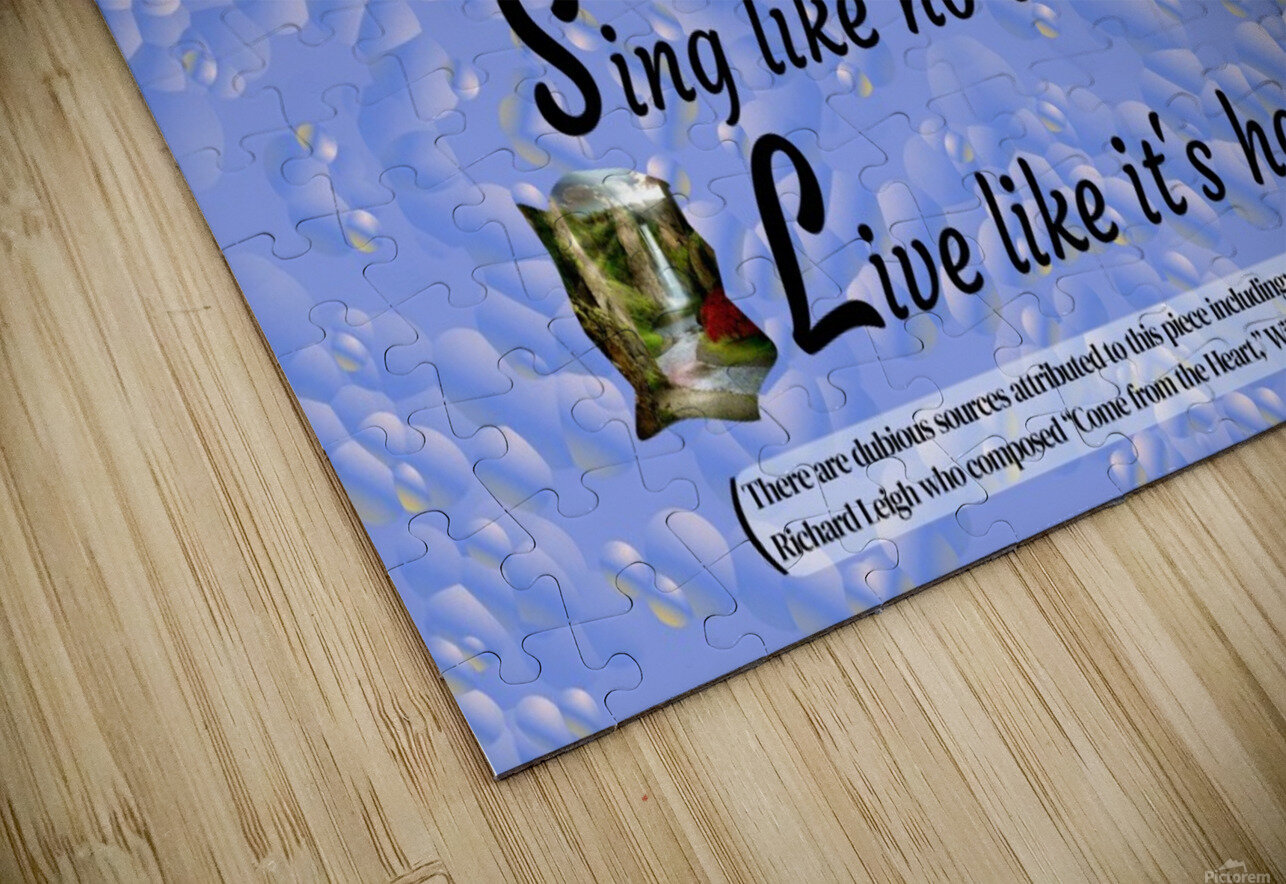 2-Dance Love Sing Live HD Sublimation Metal print