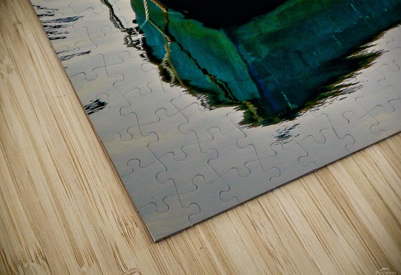 Anchored Boat at Dawn HD Sublimation Metal print