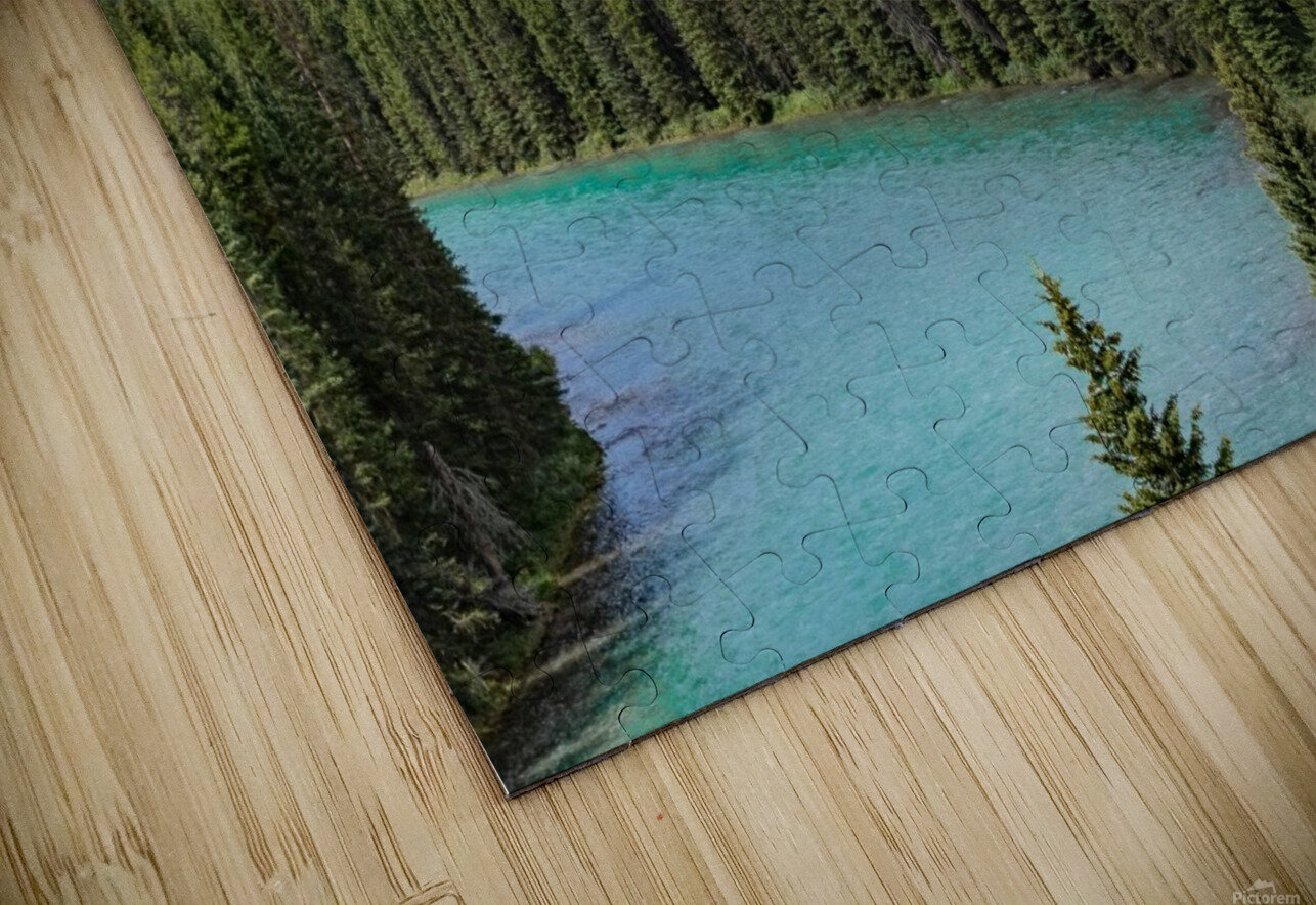 Train Tracks and River Bend HD Sublimation Metal print
