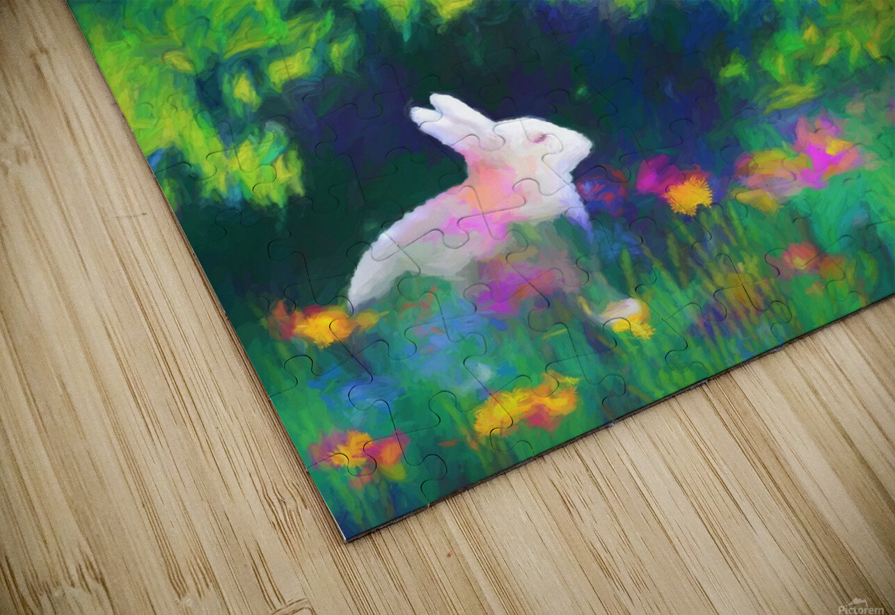 Bunny beneath the Willow Tree HD Sublimation Metal print