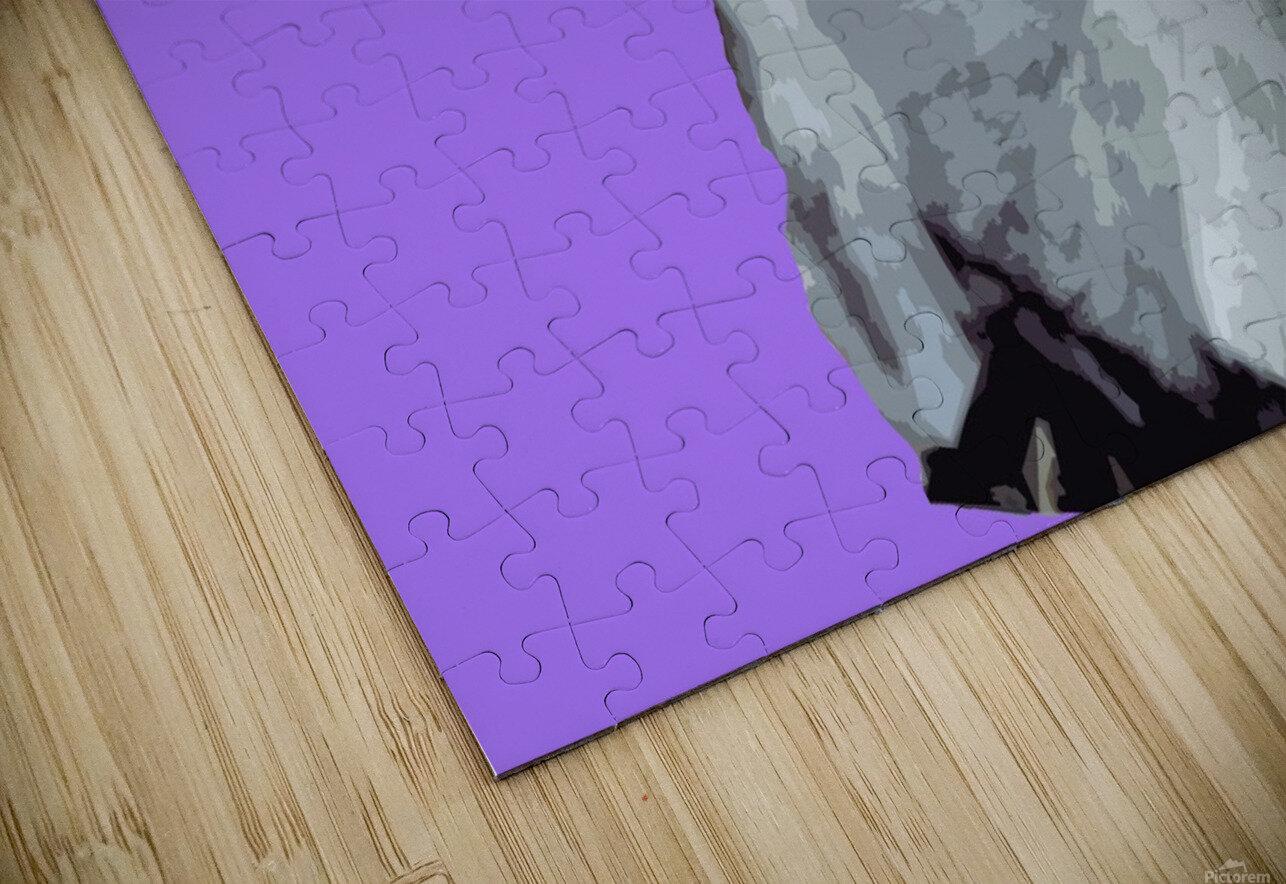 Goat popart purple HD Sublimation Metal print