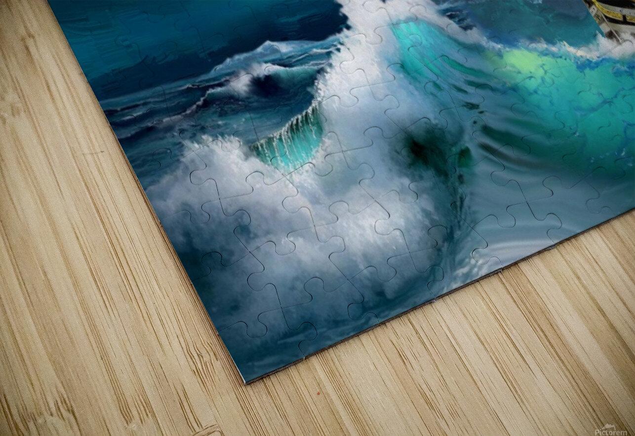 Hard way sailboat. sailing ship HD Sublimation Metal print