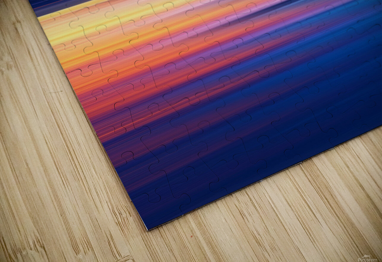 Abstract Sunset XI HD Sublimation Metal print