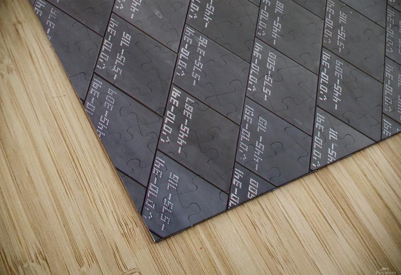 Space Shuttle Tiles HD Sublimation Metal print