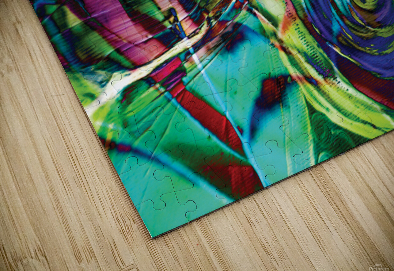 swirling abstract shapes  HD Sublimation Metal print