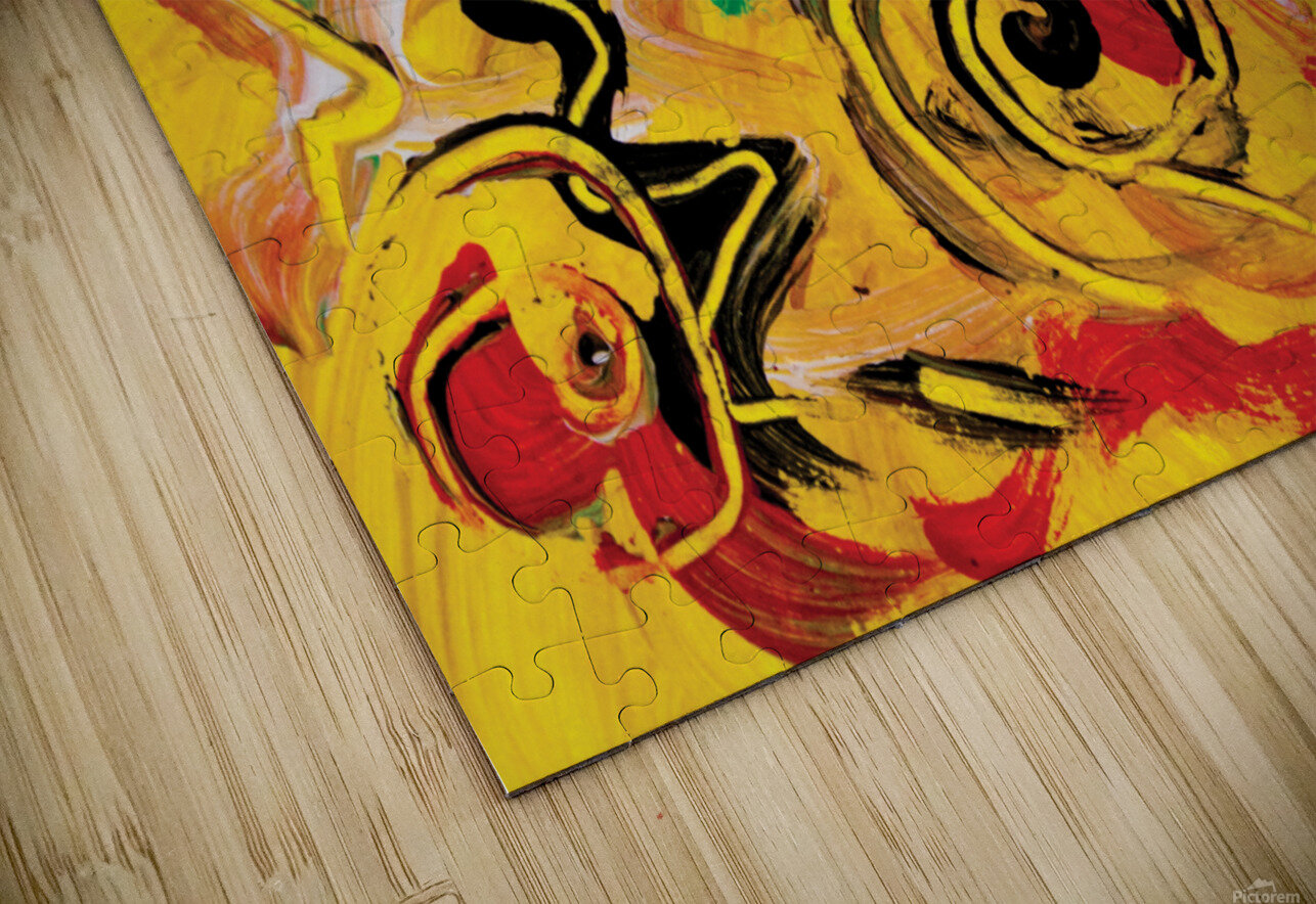 abstract yellow swirls HD Sublimation Metal print