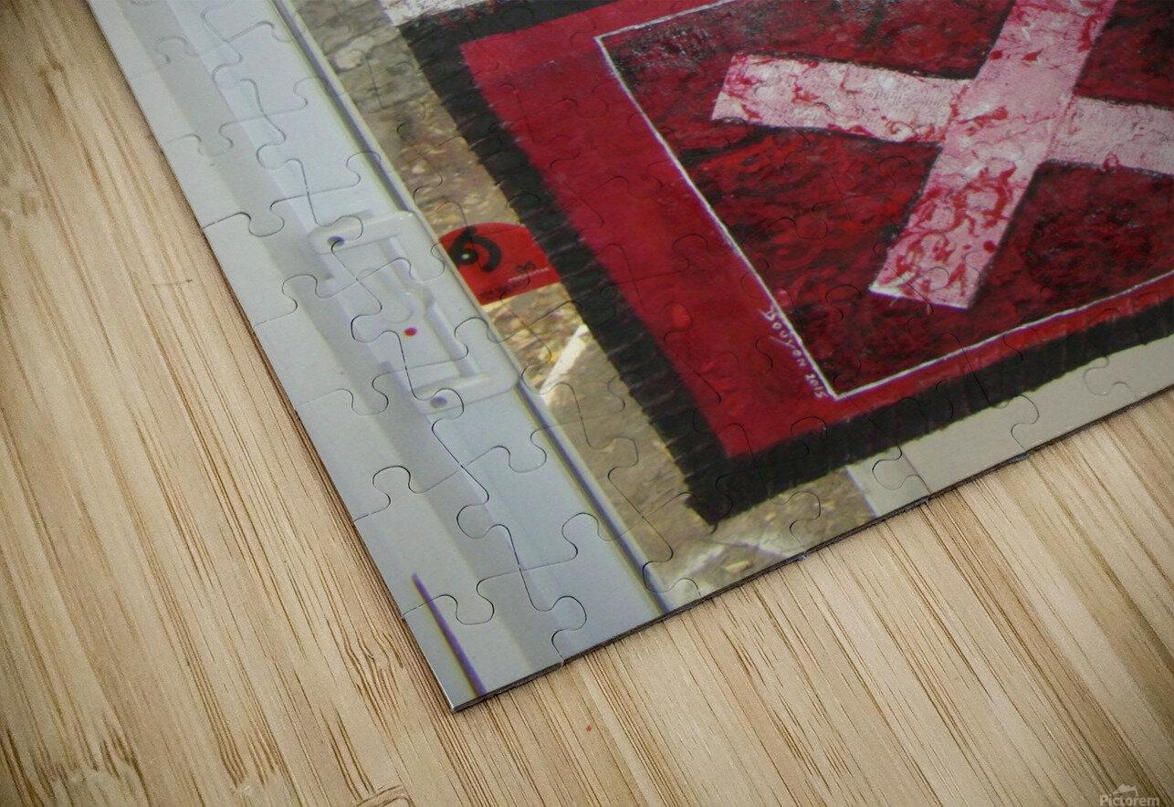 le rouge et le noir Impression de sublimation métal HD