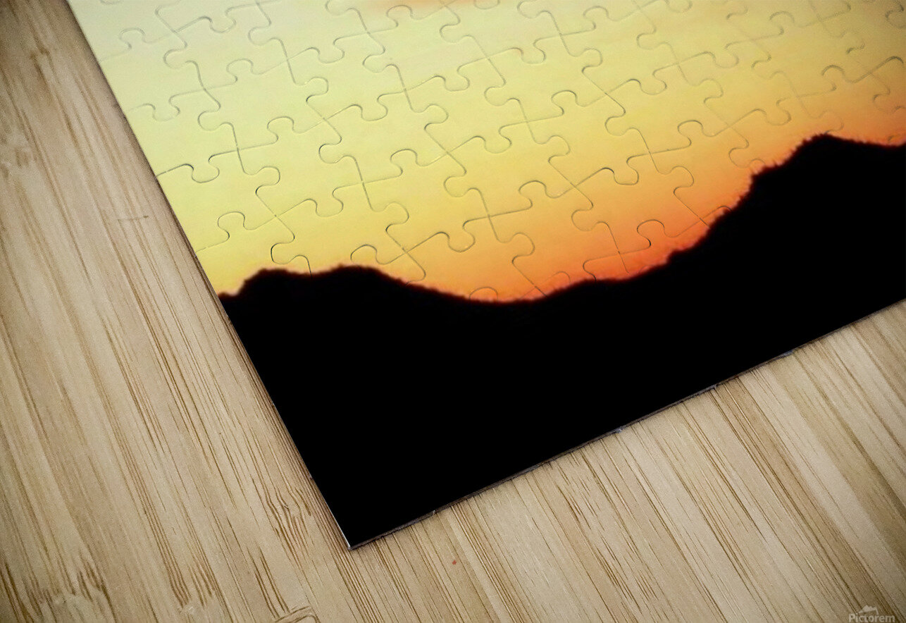 Colorful Dusk Mountain view HD Sublimation Metal print
