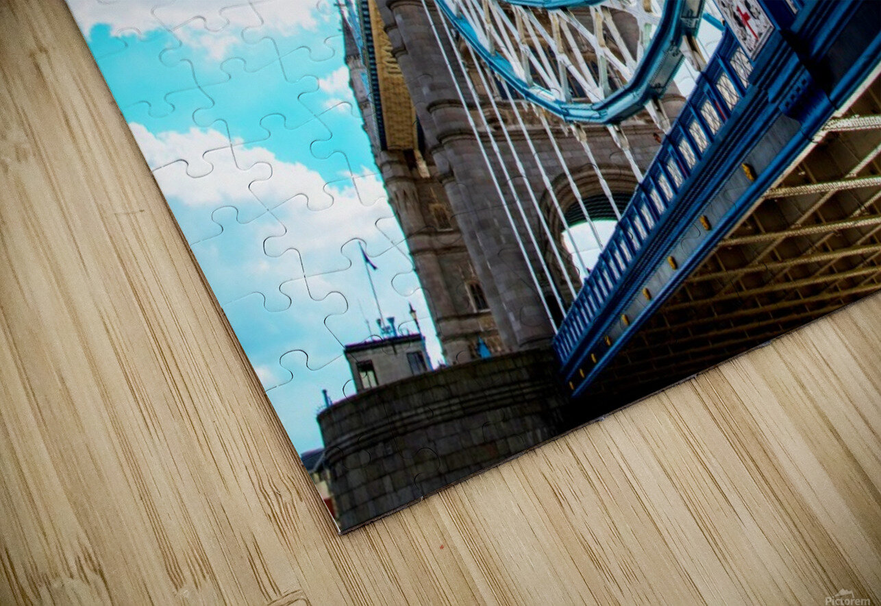 The Might of Tower Bridge HD Sublimation Metal print