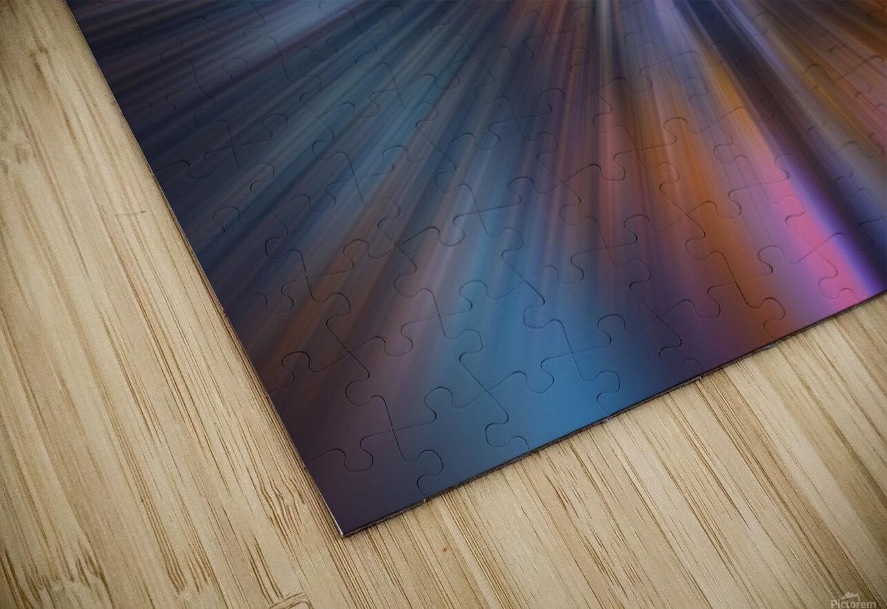Radial_orangeblue HD Sublimation Metal print