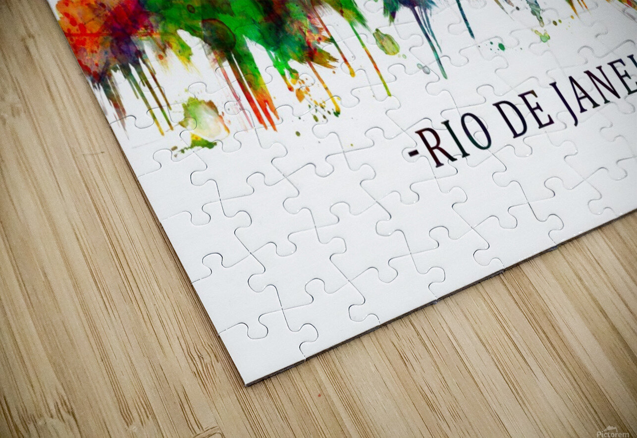 Rio de Janeiro Brazil Skyline HD Sublimation Metal print