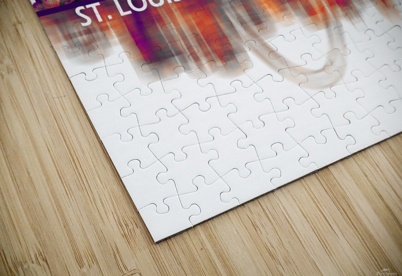 St. Louis Missouri Skyline HD Sublimation Metal print
