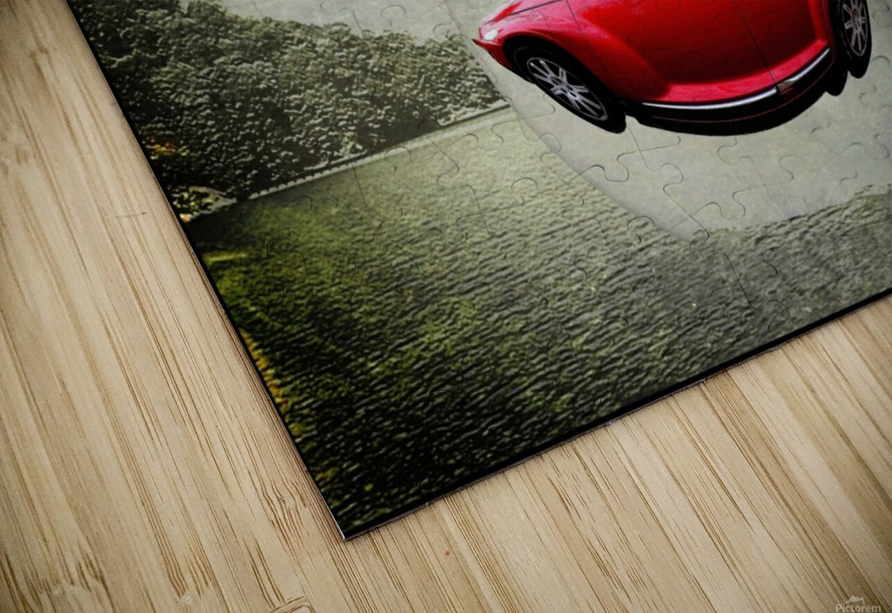 a flying car HD Sublimation Metal print