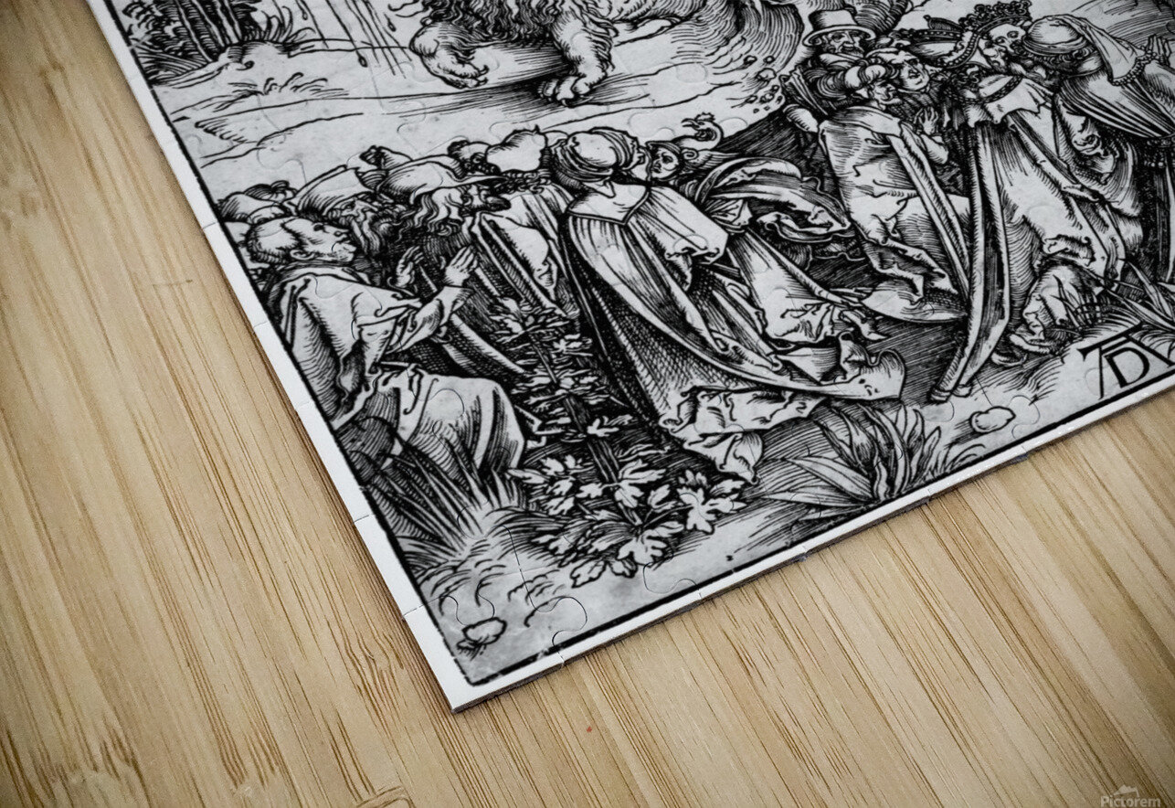 The Revelation of St John The Sea Monster and the Beast with the Lambs Horn HD Sublimation Metal print