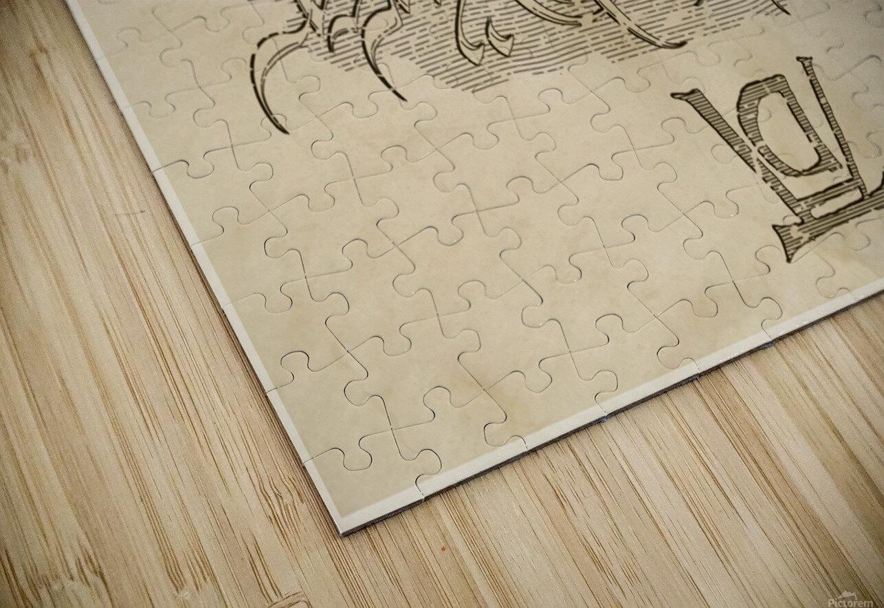 Albrecht Durer Ambigram HD Sublimation Metal print
