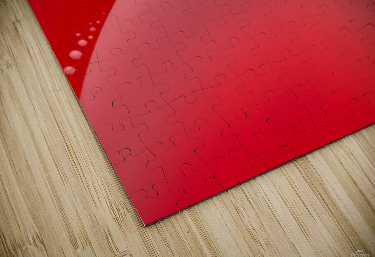 Abstract background of red color and circle shape HD Sublimation Metal print
