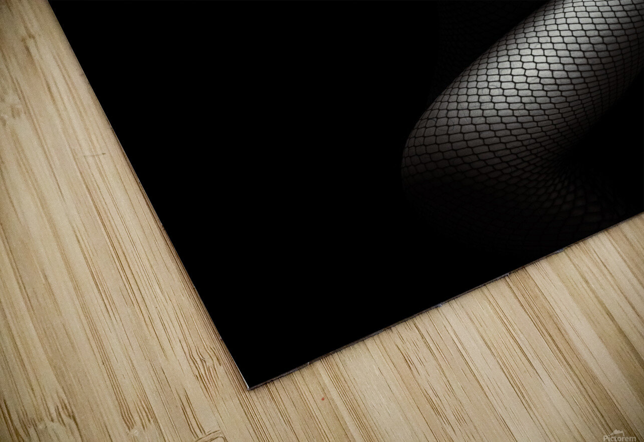 Legs in Fishnet Stockings 1 HD Sublimation Metal print