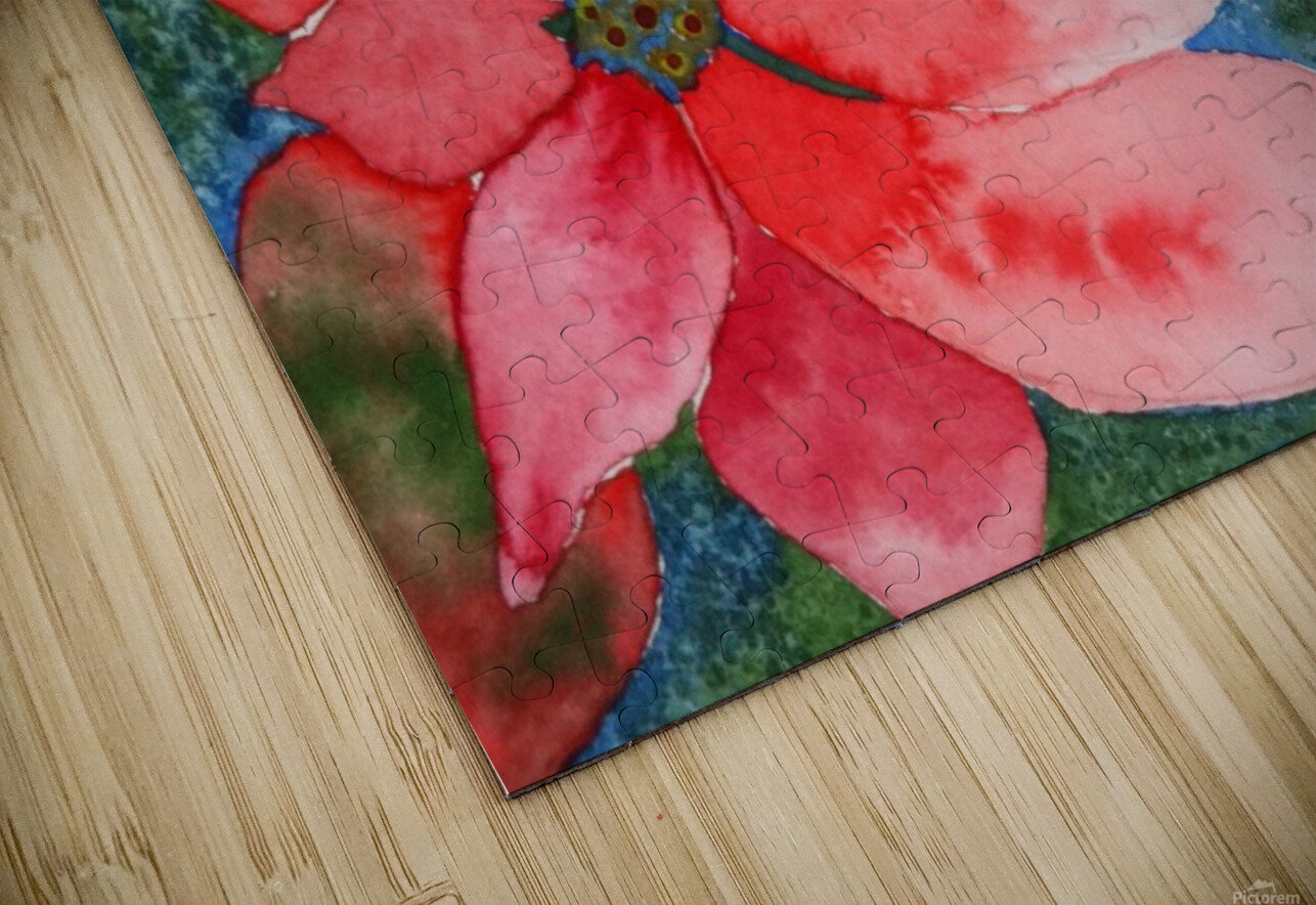Poinsettia HD Sublimation Metal print