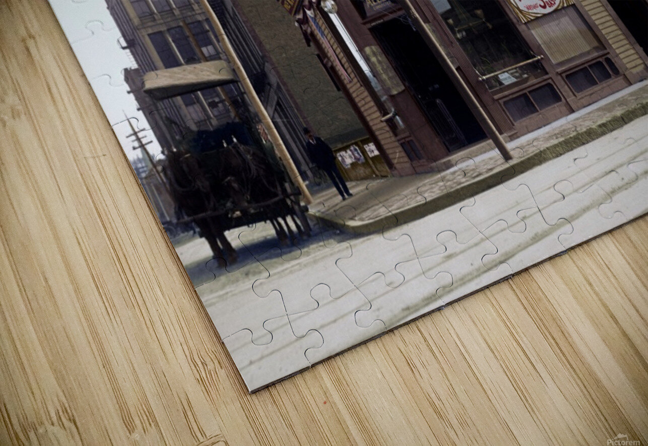 McGreevys Third Base Saloon Boston 1903 HD Sublimation Metal print