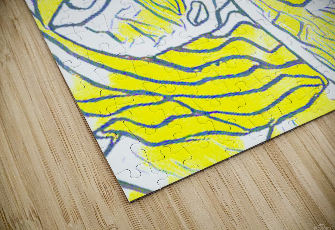yellow girl HD Sublimation Metal print